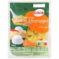 Cora ravioli 4 fromages 300g