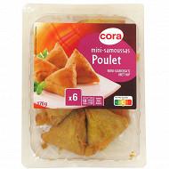 Cora 6 mini samoussas poulet 170g