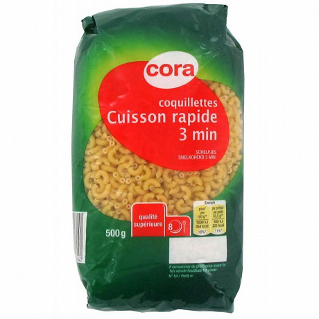 Cora coquillettes cuisson rapide 500g