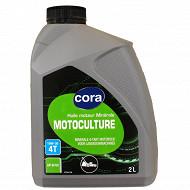 Cora huile moteur motoculture 4T 10W30 2 litres