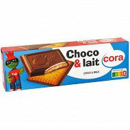Cora kido biscuits chocolat et lait 150g