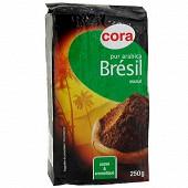 Cora café moulu pur arabica Brésil 250g