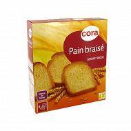Cora pain braisé 40 tranches 330g