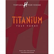H pour homme eau de toilette vaporisateur Titanium 75ml