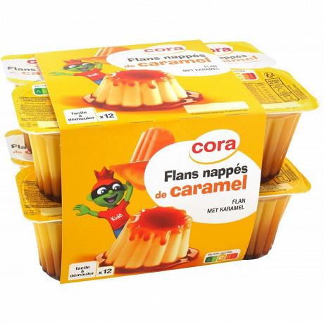 Cora kido flans nappés de caramel  12 x 100g
