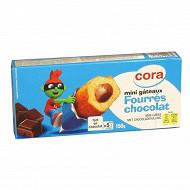 Cora kido mini gâteaux fourrés chocolat x 5 soit 150g