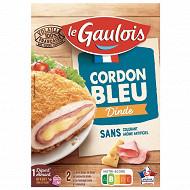 Le Gaulois 2 escalopes cordon bleu de dinde 200g