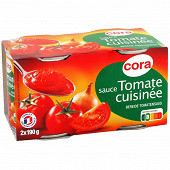 Cora sauce tomate cuisinée 2 x 190g