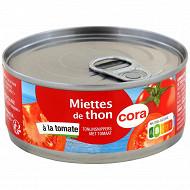 Cora miettes de thon à la tomate 160g