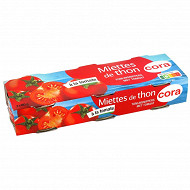 Cora miettes de thon à la tomate 3 x 80g