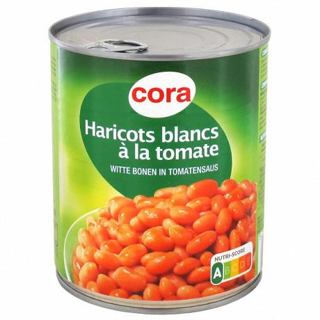 Cora haricots blancs à la tomate 4/4 500g