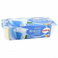 Cora yaourt brassé nature 8x125g