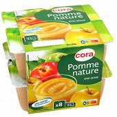 Cora dessert de fruits pomme nature  8x100g