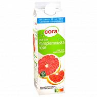 Cora pur jus de pamplemousse rose 100% fruit pressé avec pulpe 1l