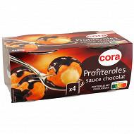 Cora Profiteroles chocolat noir 4x90g