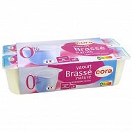 Cora yaourt brassé nature 0% 8x125g