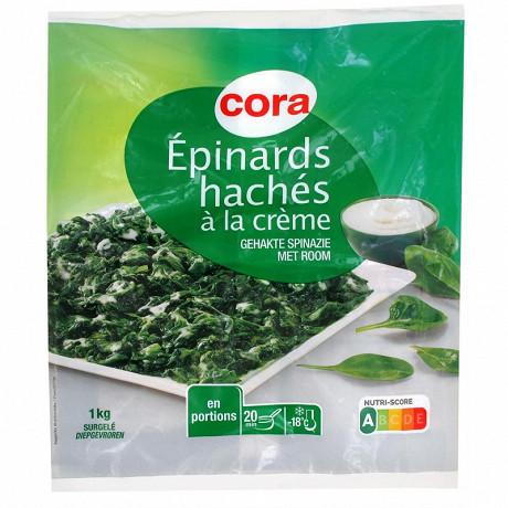 Cora épinards hachés à la crème 1kg