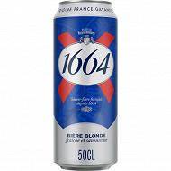 1664 bière blonde la boîte de 50 cl 5,5% Vol.