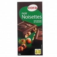 Cora chocolat noir aux noisettes entières 200g