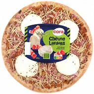 Cora pizza chèvre lardons 450g