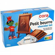Cora kido petit beurre tablette chocolat lait pocket 250g