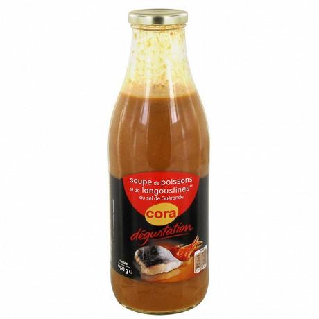 Cora dégustation soupe de poissons et langoustines 950ml