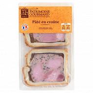 Patrimoine gourmand pâté en croûte cuit au four 2 tranches 240g