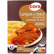 Cora langue de boeuf et purée de pommes de terre 300g
