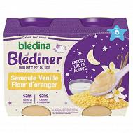 Blédina blédîner semoule et vanille fleur d'oranger 2x200g dès 6 mois