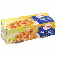 Cora thon à la  sauce mayonnaise  135gx2