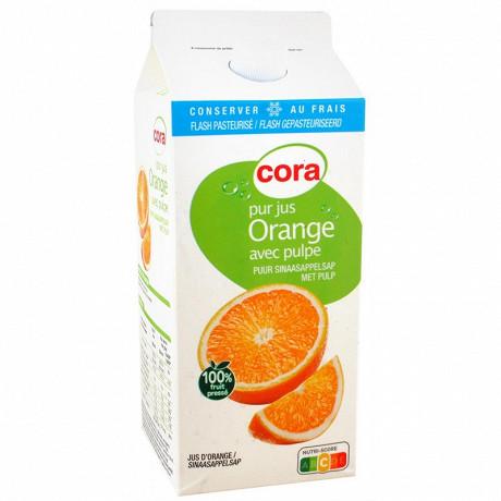 Cora pur jus d'orange avec pulpe 1,75l