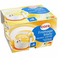 Cora fromage blanc saveur vanille 8 x 100g 2,7%mg