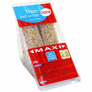 Cora sandwich club maxi thon oeuf tomate pain complet 200g