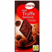 Cora chocolat noir fourrage 48% truffe fantaisie et aux éclats de fèves de cacao caramélisés 150g