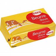 Cora beurre plaquette doux 250g