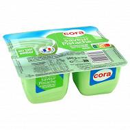Cora crème dessert saveur pistache 4x125g