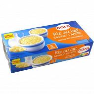 Cora riz au lait saveur vanille 8x115g