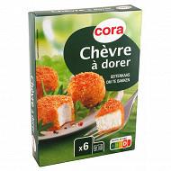 Cora fromage de chèvre pané à dorer 150g (6x25g)