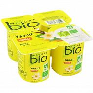 Nature bio yaourt vanille 4 x 125g