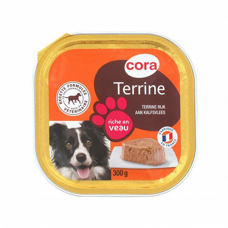 Cora terrine pour chien riche en veau 300g