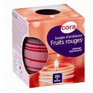 Cora bougie d'ambiance parfum fruits rouges