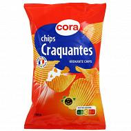 Cora chips craquantes ondulées fines 150g