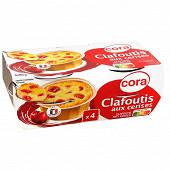 Cora clafoutis au lait entier, aux cerises et aux oeufs frais 4x85g