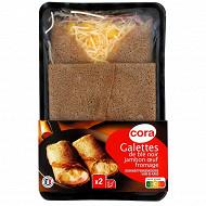 Cora galettes au blé noir jambon oeuf fromage 2x150g