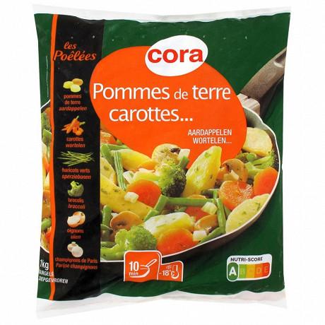 Cora poêlée de légumes pommes de terre, carottes, haricots verts, brocolis, oignons, champignons 1kg