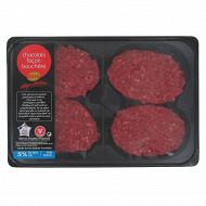 Cora dégustation steak haché charolais façon bouchère 5% mg 4x125g
