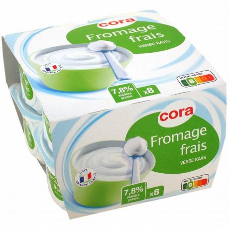 Cora fromage frais 7,8% MG 8x100g