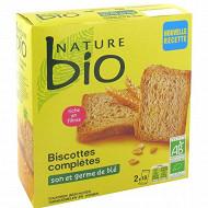 Nature bio biscottes complètes son et germe de blé  36 tranches 300g
