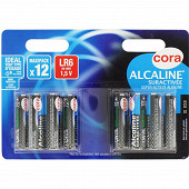 Cora 12 piles alcalines AA (LR6) suractivées