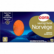 Cora saumon fumé Norvège 10 tranches 375g